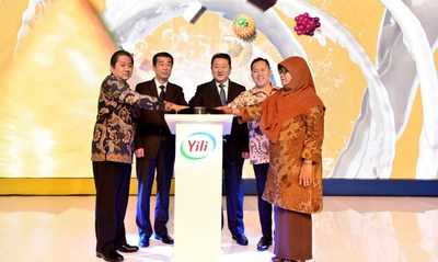 Lancering van Chinese zuivelgigant Yili Group in Indonesië